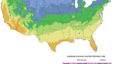 USDA Hardiness map